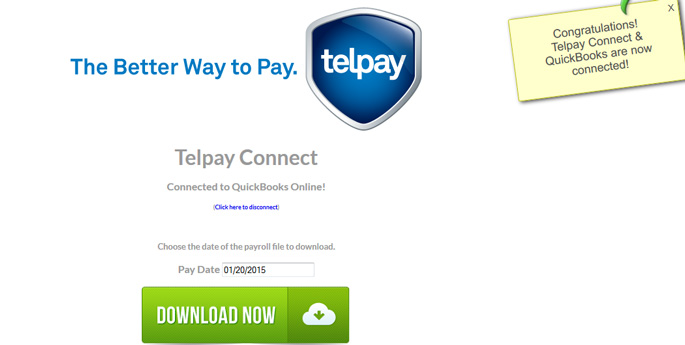 Step 2: Export QuickBooks Online Payroll File with Telpay