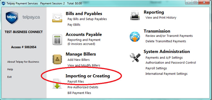 Step 3 import compatible quickbooks online payroll file into step 3 import compatible quickbooks online payroll file into telpay for business desktop software ccuart Choice Image