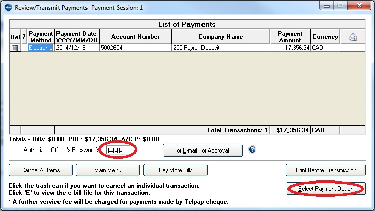 Reuse or Revise an Existing Payroll File – Telpay
