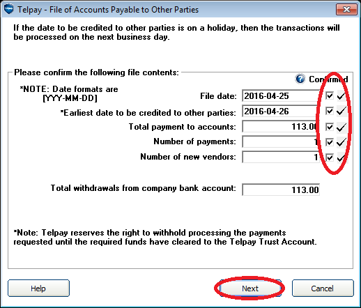 telpay how to set up a new payee